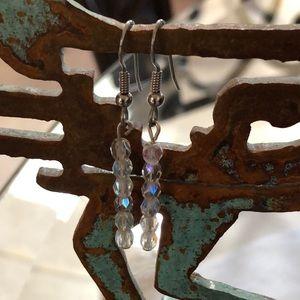 AB Czech Glass Crystal Shimmer Earrings